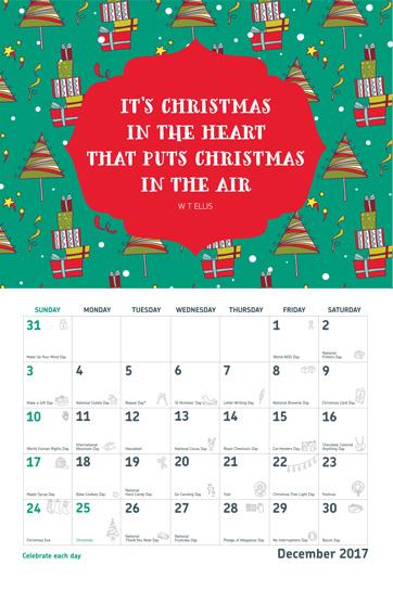 Open 2017 Wall Calendar